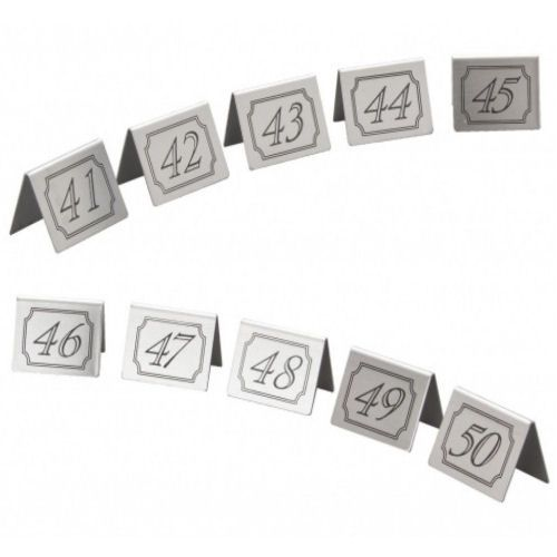 Stainless Steel Table Numbers Set 41-50