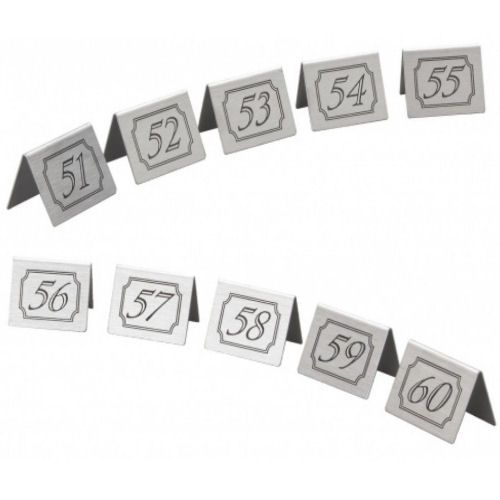 Stainless Steel Table Numbers Set 51-60