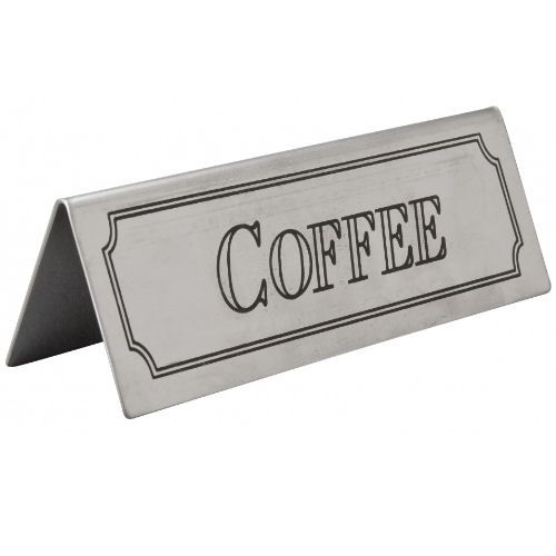 Stainless Steel Table Sign - Coffee