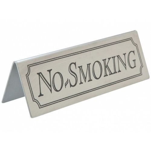Stainless Steel Table Sign - No Smoking