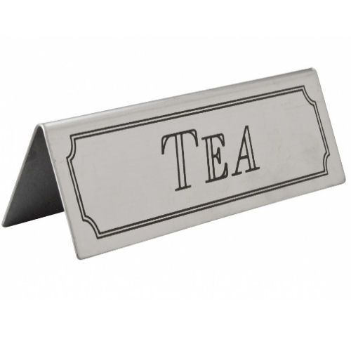 Stainless Steel Table Sign - Tea