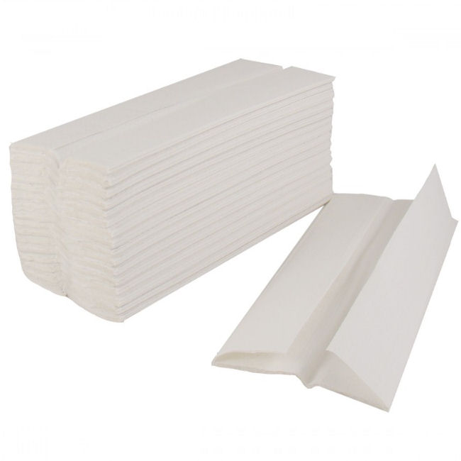 White C-Fold Paper Hand Towels 2 Ply