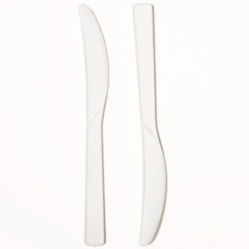 White Disposable Plastic Knives