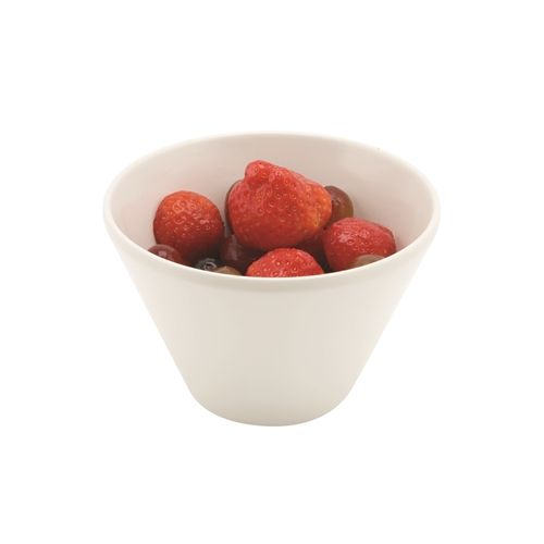 White Melamine Conical Buffet Bowl 12.7cm