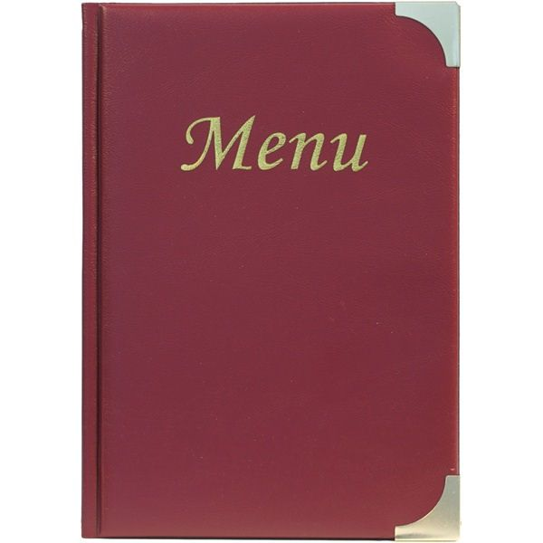 Wine Red A5 Menu Cover Wine 8 Pages